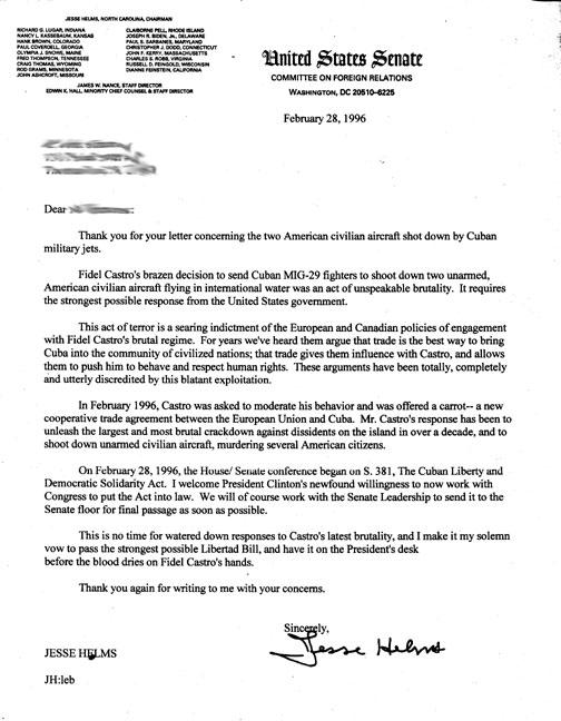 Helms Letter